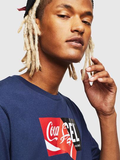 Diesel - CC-T-JUST-COLA, Bleu Foncé - T-Shirts - Image 5