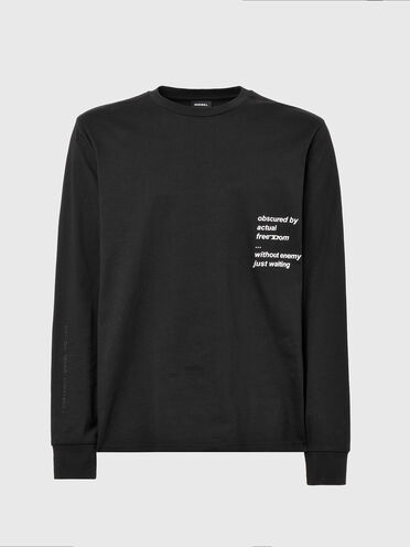 T-shirt à manches longues avec imprimé texte