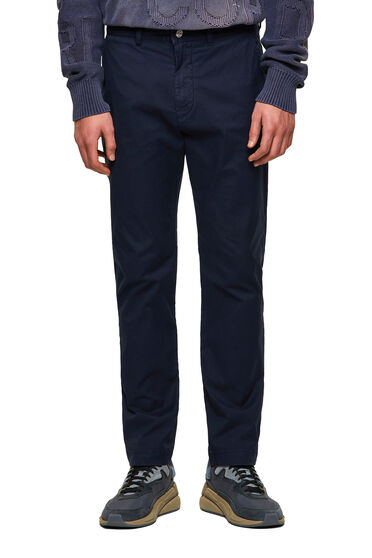 Pantalon chino en gabardine de coton stretch