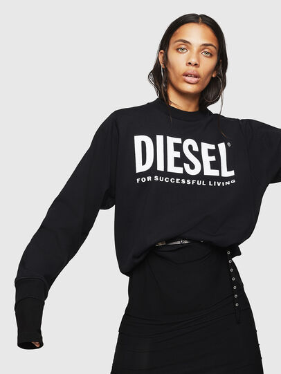 Diesel - F-ANG, Noir - Pull Cotton - Image 4