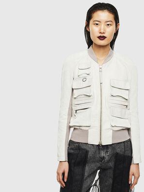 L-CERITE, Blanc - Vestes de cuir
