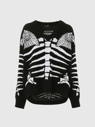 M-CRYSTAL, Noir - Pull Maille