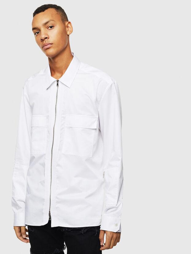 S-PATCH-P, Blanc - Chemises