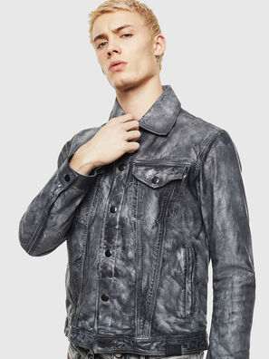 L-NHILL, Noir - Vestes de cuir