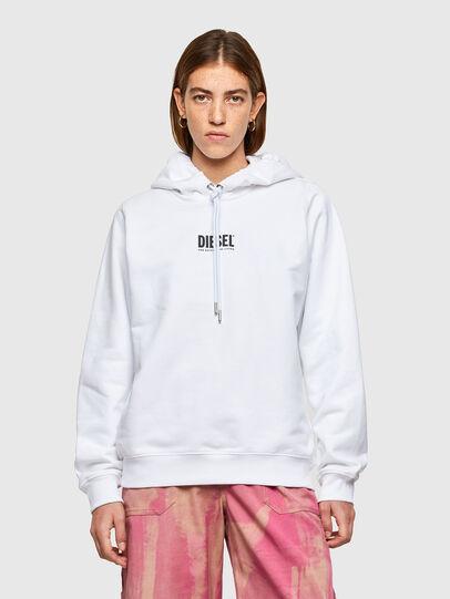 Diesel - F-ANG-HOOD-SMALLOGO, Blanc - Pull Cotton - Image 1