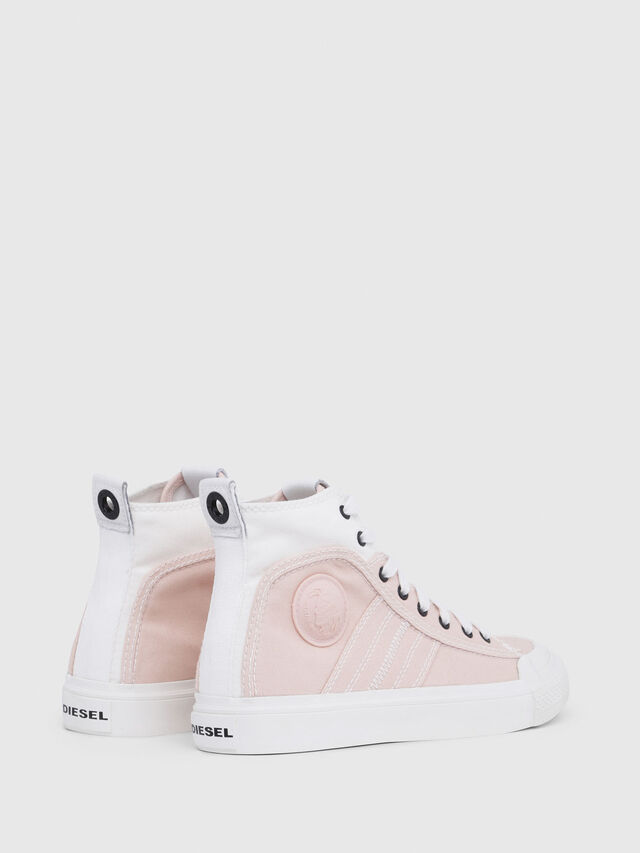 Diesel - S-ASTICO MID LACE W, Rose/Blanc - Baskets - Image 3