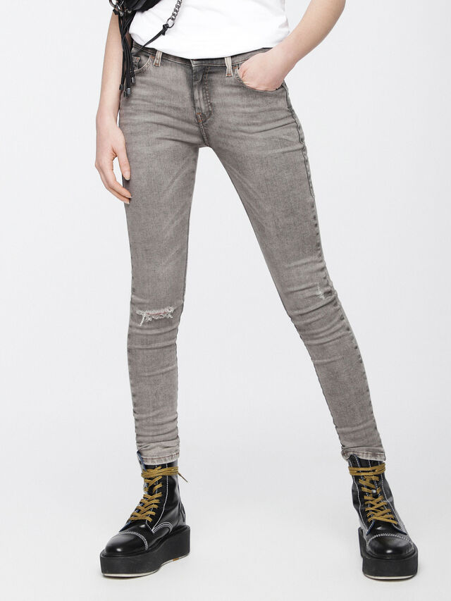 Diesel - Slandy 084UP, Gris Clair - Jeans - Image 1