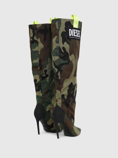 Diesel - D-SLANTY HOTK, Vert Camouflage - Bottes - Image 3