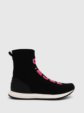 SLIP ON 04 MID SOCK, Noir/Rose - Footwear