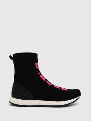 SLIP ON 04 MID SOCK, Noir/Rose - Footwear