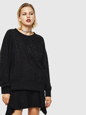 F-MAGDA-D, Noir - Pull Cotton