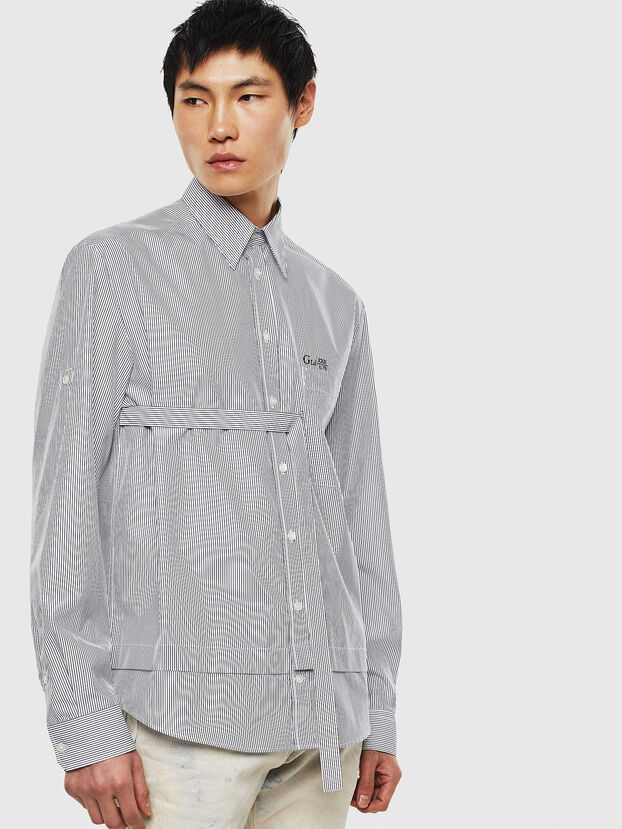 S-GARNET, Blanc/Noir - Chemises