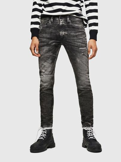 Diesel - Thommer JoggJeans 0890B, Noir/Gris foncé - Jeans - Image 1