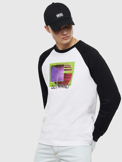Diesel - T-RODDI, Blanc/Noir - T-Shirts - Image 1