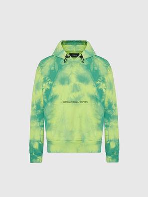 S-ALBYEL-X4, Vert/Jaune - Pull Cotton