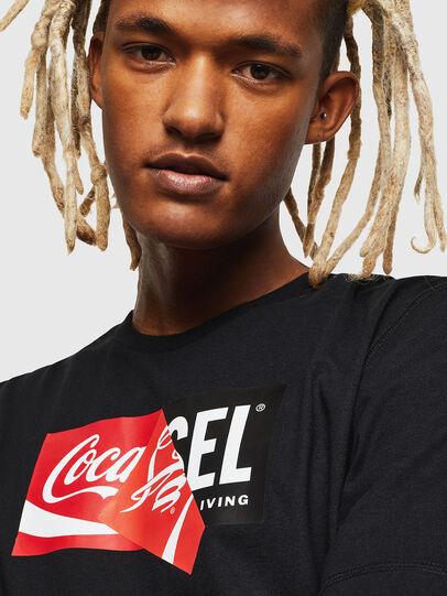 Diesel - CC-T-JUST-COLA, Noir - T-Shirts - Image 5