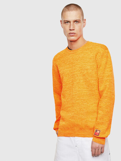 Diesel - K-SPECIALS, Orange - Pull Maille - Image 1