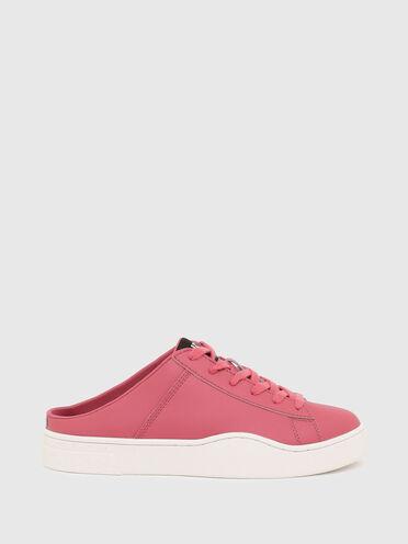 Sneakers mules en cuir sans lacets