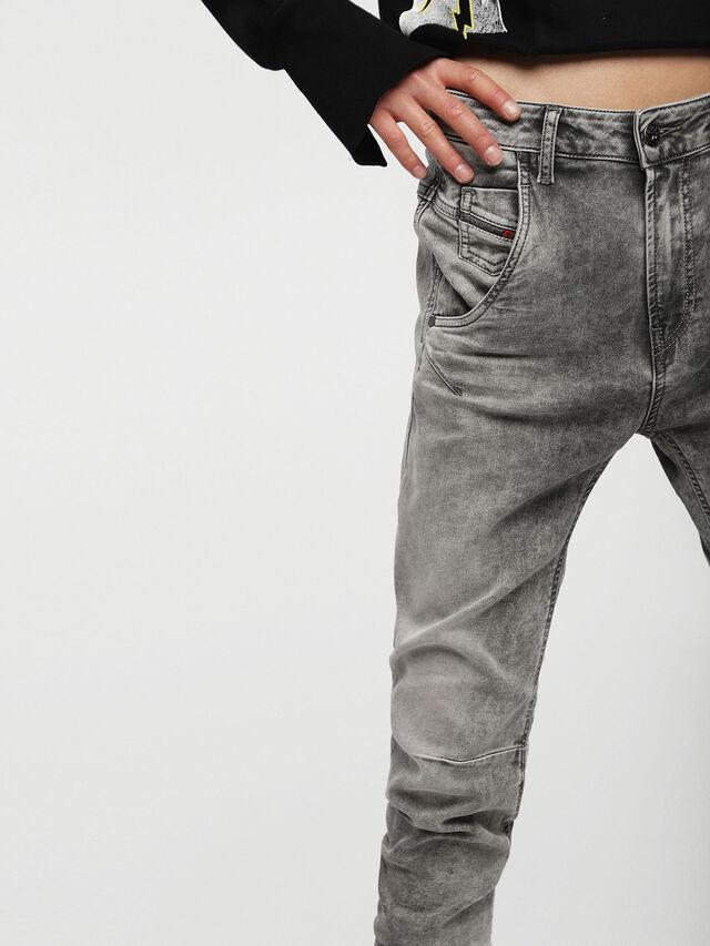 Diesel - Fayza JoggJeans 0855B, Gris Clair - Jeans - Image 3