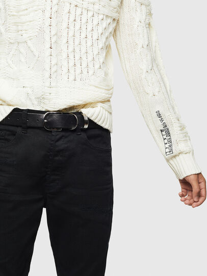 Diesel - K-BRIGLY, Blanc - Pull Maille - Image 5