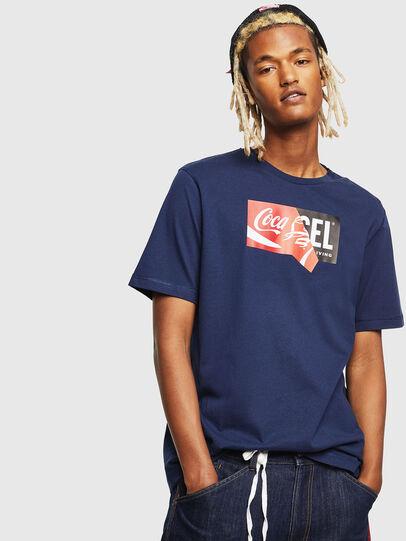 Diesel - CC-T-JUST-COLA, Bleu Foncé - T-Shirts - Image 1
