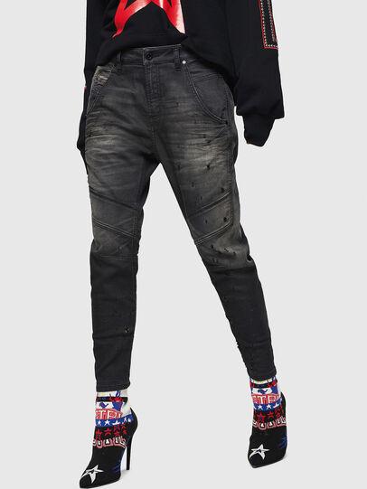 Diesel - Fayza JoggJeans 069GN, Noir/Gris foncé - Jeans - Image 1
