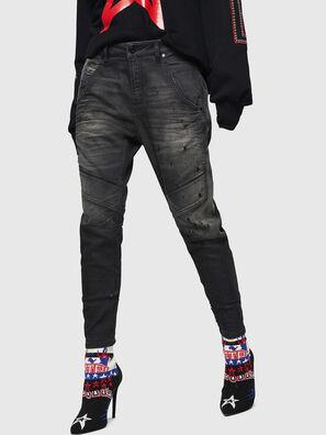Fayza JoggJeans 069GN, Noir/Gris foncé - Jeans