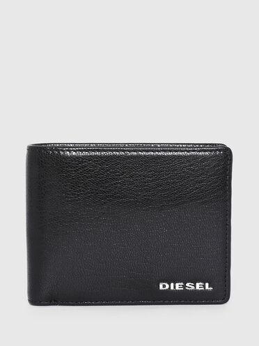 Portefeuille à rabat avec détail coloré