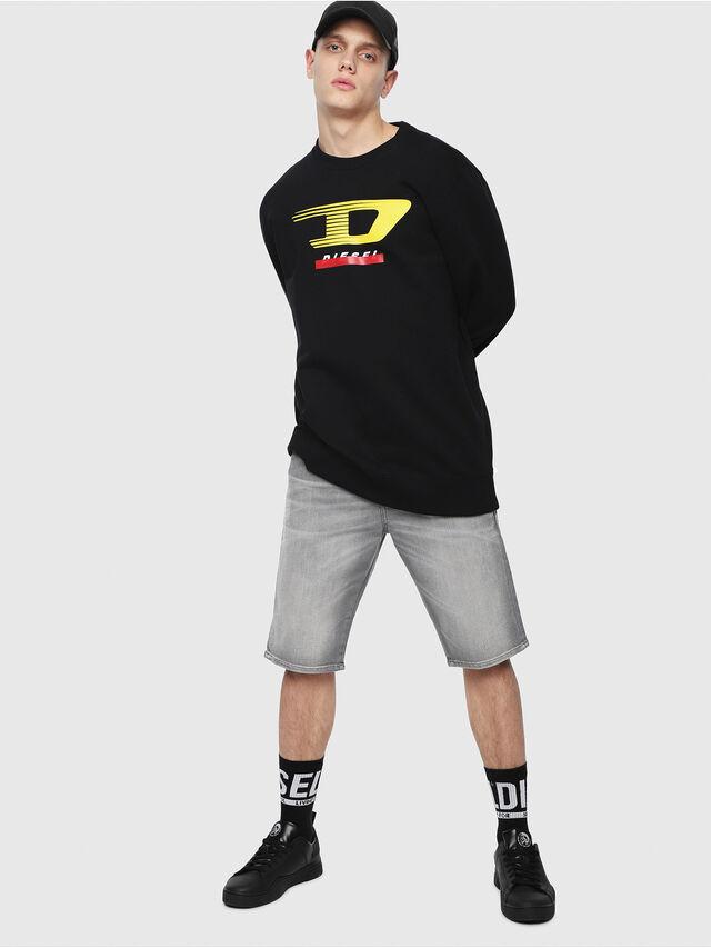 Diesel - THOSHORT, Jean Gris - Shorts - Image 4