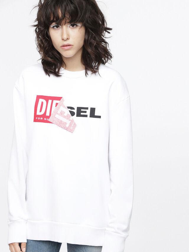 Diesel - F-SAMY-FL, Blanc - Pull Cotton - Image 1