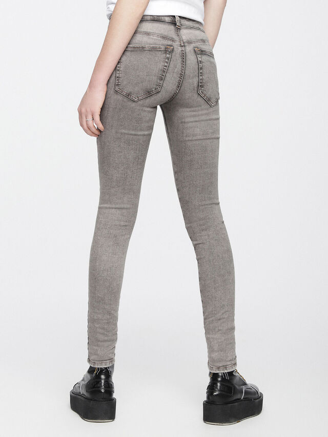 Diesel - Slandy 084UP, Gris Clair - Jeans - Image 3
