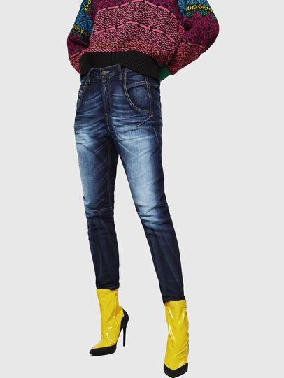 Diesel - Fayza JoggJeans 069IE, Bleu Foncé - Jeans - Image 1