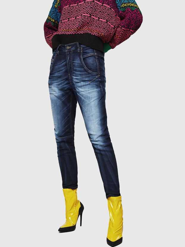 Fayza JoggJeans 069IE, Bleu Foncé - Jeans