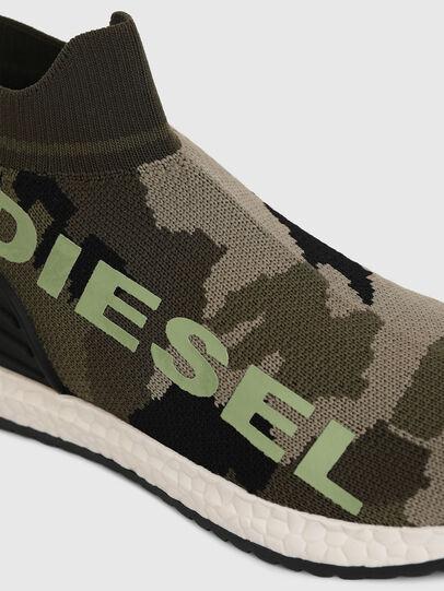 Diesel - SLIP ON 03 LOW SOCK, Vert Camouflage - Footwear - Image 4