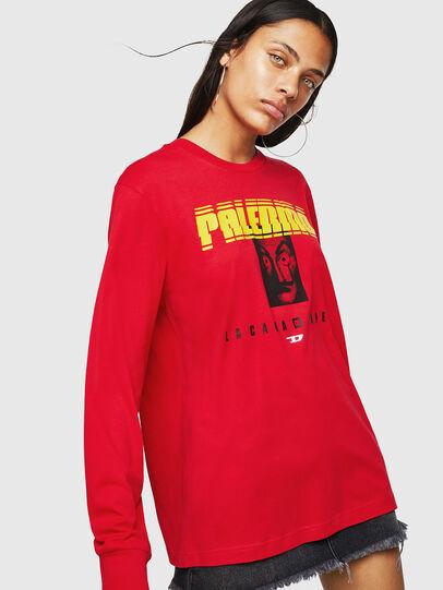 Diesel - LCP-T-JUST-LS-PALERM, Rouge - T-Shirts - Image 2