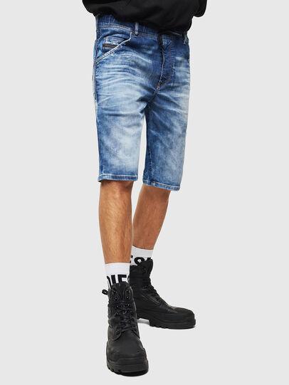 Diesel - D-KROOSHORT-T, Bleu moyen - Shorts - Image 1