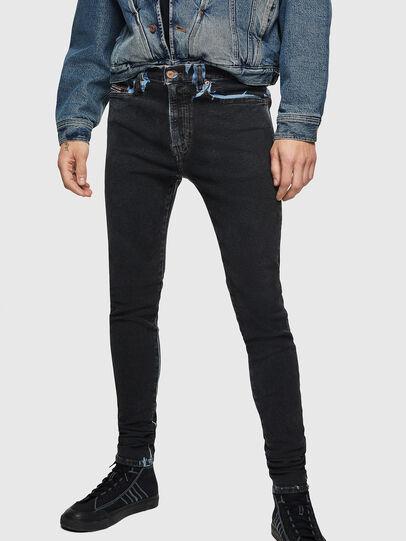 Diesel - D-Istort 0094B, Bleu Foncé - Jeans - Image 1