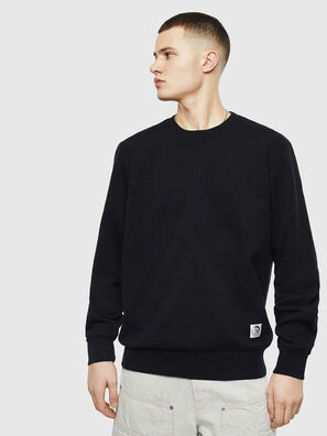 S-GIRK-WORK, Noir - Pull Cotton