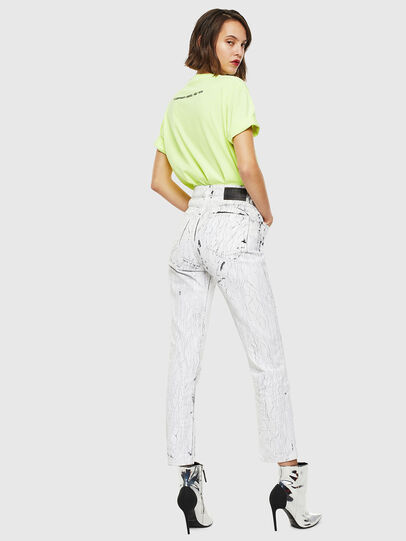 Diesel - T-JUST-SLITS-FLUO, Jaune Fluo - T-Shirts - Image 6
