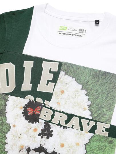Diesel - D-FRANKENSTEIN 2.1, Blanc/Vert - T-Shirts - Image 3