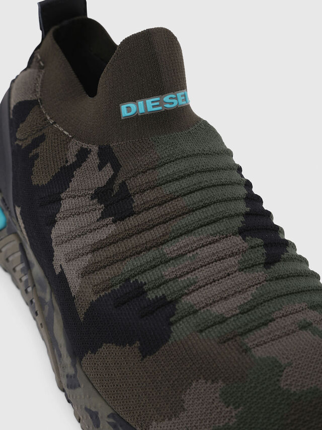 Diesel - S-KB ATHL SOCK, Vert Camouflage - Baskets - Image 4