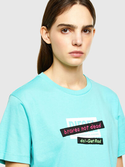 Diesel - T-DARIA-R2, Azur - T-Shirts - Image 3