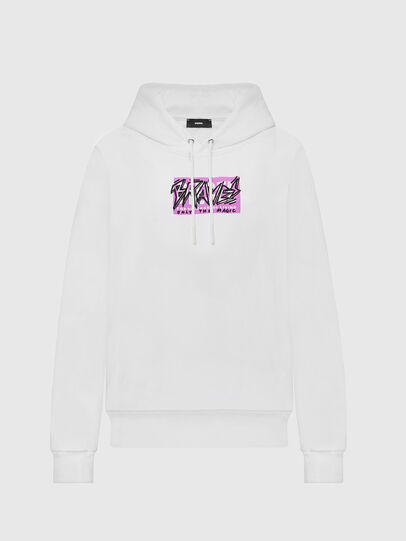 Diesel - F-MAGDALENA-E1, Blanc - Pull Cotton - Image 1