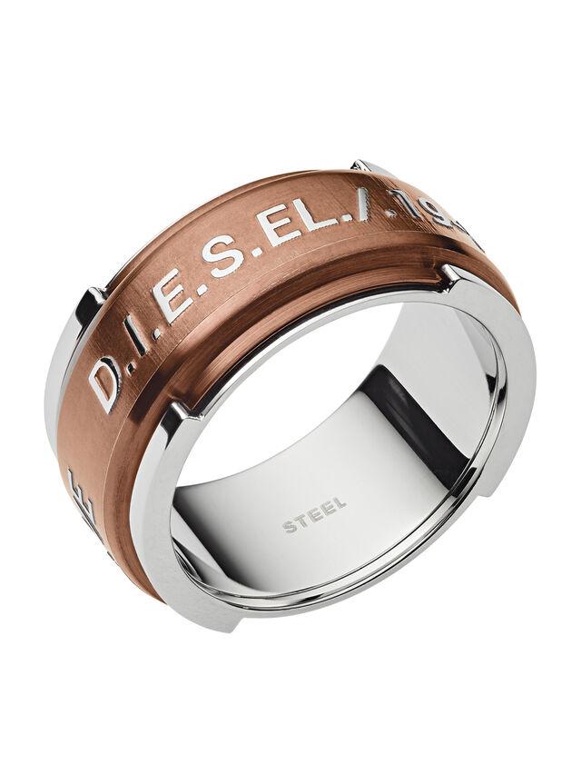 Diesel - RING DX1097, Bronze - Bagues - Image 1
