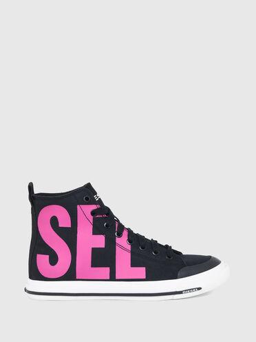 Sneakers montantes avec logo imprimé