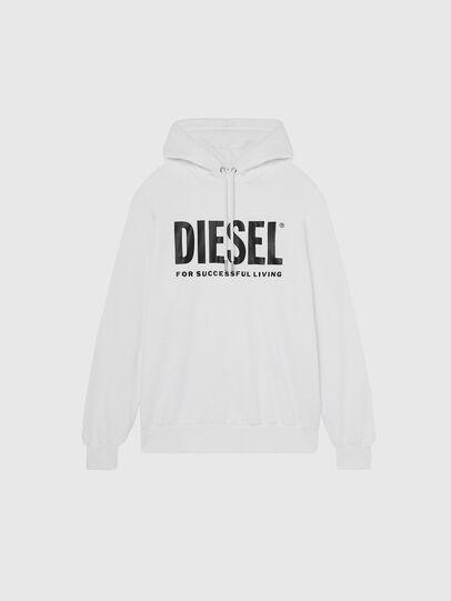 Diesel - S-GIR-HOOD-DIVISION-, Blanc - Pull Cotton - Image 1
