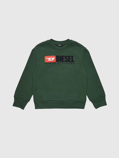 Diesel - SCREWDIVISION OVER, Vert Bouteille - Pull Cotton - Image 1