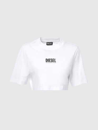 T-shirt cropped Green Label avec logo