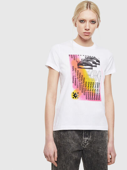 Diesel - T-SILY-S5, Blanc - T-Shirts - Image 1