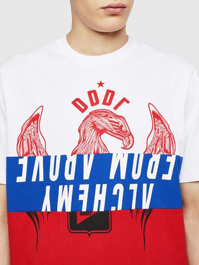 Diesel - T-JUST-A1, Blanc/Rouge/Bleu - T-Shirts - Image 3